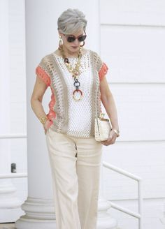 Best Outfits For Women Over 50 - Fashion Trends Over 60 Fashion, Over 50 Womens Fashion, Fashion Over 50, Fashion 2018, Stylish Outfits For Women Over 50, Clothes For Women, Mode Ab 50, Look Chic, Designing Women