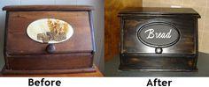 Trash to Treasure Furniture Makeovers | Breadbox makeover - trash to treasure | Ranch house ideas (Primative ...