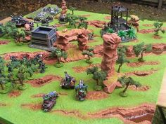 WarHammer jungle terrain looks very cool.  Great for Imperial Guard in 40K or Lizard Men in Fantasy!