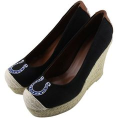 HOT NEW ITEM! Ladies, take your wardrobe to new heights with The Groupie espadrille wedge sandals! Find them for your team here: http://pin.fanatics.com/search/espadrille/source/pin-hotitem-espadrille-wedges-sclmp