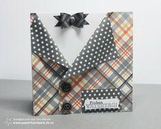 - Papierhandwerk -: Vatertagskarte #1