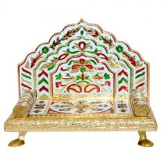Meenakari Sinhasan for Deity