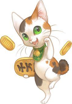 Maneki Neko - Japanese lucky cats ...  From mewitti ... cat, japanese, lucky cat