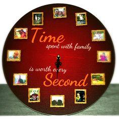Time spent with family is worth every second! Un cadou util, durabil si incarcat cu sentimente frumoase. Pentru tine, pentru prieteni, familie sau ocazii speciale.  Termen de livrare: 24-48 ore de la comanda. Diy Clothing, Decorative Plates, Diy Crafts, Gifts, Home Decor, Products, Diy Clothes, Homemade Home Decor, Presents