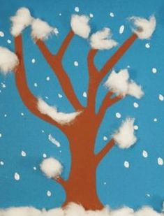 Winter decorations tinkering snow - crafts mitkids- Winterdeko basteln Schneetreiben – Bastelnmitkids We make a wintry tree that stands in the middle of the snowfall. Also suitable for small children. Crafts with children for the winter. Winter Crafts For Kids, Winter Kids, Winter Art, Diy For Kids, Diy Crafts To Do, Decor Crafts, Kids Crafts, Snow Crafts, Winter Trees