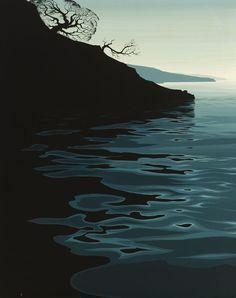 eyvind earle - coastal landscape, 1970.