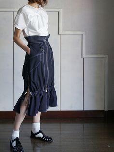 AKIKOAOKIアキコアオキ アクティブギャザースカート-BELA VISTA Since1989 ONLINE SHOP