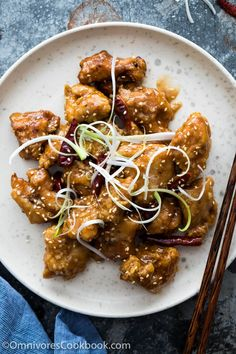 Real deal General Tso's Chicken cooked in a spicy garlicky sauce