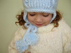 Winter Earflaps Ski Hat - knitting patter