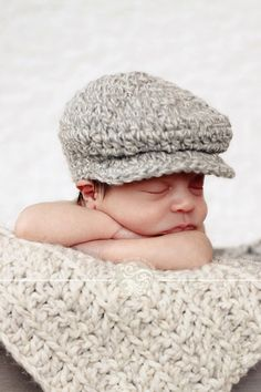 Baby Boy Hat Baby Hat Newborn Hat Gray Hat Infant Baby Donegal Hat Newborn Baby Shower Gift Photo Prop Irish Donegal Cap Baby Boy Clothes