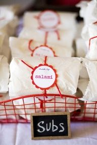 Adorable DIY party food packaging!