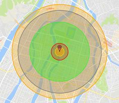 NUKEMAP is a Google Maps mash-up that calculates the effects of the detonation of a nuclear bomb.