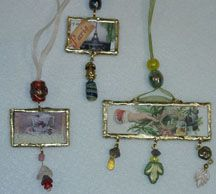 altered art glass slide jewelry .. I need to practice more with the soldering iron!