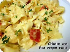 Creamy Chicken and Roasted Red Pepper Pasta Recipe- tastes just like a restaurant!