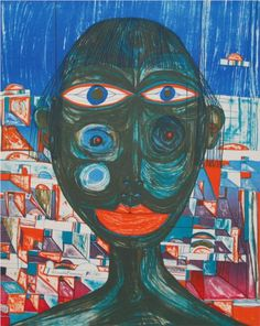 Friedensreich Hundertwasser (1928 - 2000) | 221 Arabian Woman - 1955