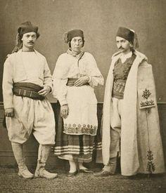 Photograph - 1873 - Crete - Christian villagers of Hanoia (Chania); Resident of Isfakia (Sphakia)