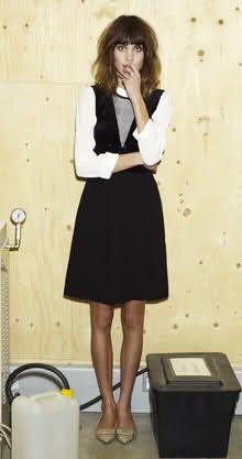 Alexa Chung in Peter Jensen dress.