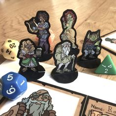 DnD printable resources and custom RPG character portrait commissions. Characters sheet booklets, minis, initiative trackers and gifts. Dungeons And Dragons Characters, Dnd Characters, Board Game Pieces, Board Games, Dnd Character Sheet, Dnd Art, Dungeons And Dragons Homebrew, Tabletop Rpg, Character Portraits