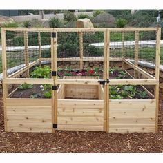 Square Raised Garden with Deer Fence Kit $2199.99 by Wayfair