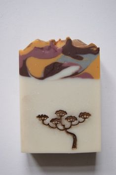 Warm Color Tree Soap- love how the stamp is a main part of the design