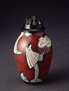 "1930 Art Deco ""Pierrot"" perfume bottle."