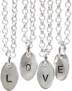 Items similar to Hand stamped LOVE Letter Sterling Silver Necklace Custom Handmade on Etsy Fine Jewelry, Jewellery, Unique Jewelry, Love Letters, Sterling Silver Necklaces, Hand Stamped, Jewelry Design, Lettering, Personalized Items