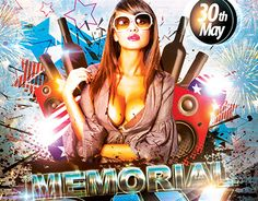 "Check out new work  ""Memorial Day PSD Flyer Template"" #memorial #DAY #EVENT #PARTY #patriotic"