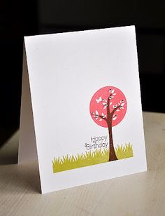 Trendy Tree Tops Birthday Card by Maile Belles for Papertrey Ink (April 2012)