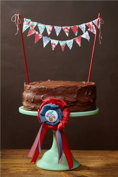 country fair cake bunting... need to make this for our next family birthday cake, so cute!