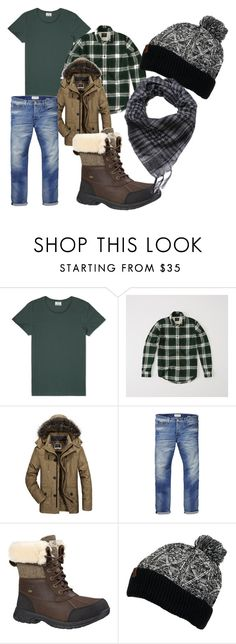 """Winter 2"" by cookiecookiton on Polyvore featuring Acne Studios, Abercrombie & Fitch, Scotch & Soda, UGG, Timberland, men's fashion and menswear"