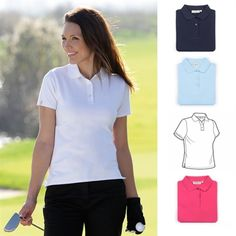 2013 Glenmuir Ladies Carnie Shaped Fit Cotton Golf Polo Shirt.