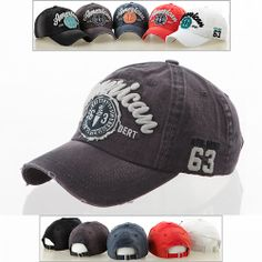 (UK) NEW Men Women Vintage Look Distressed Retro Baseball Ball Cap Hat  -American 74a4b178750