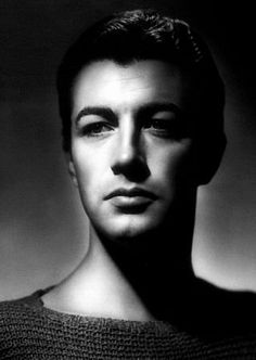 Robert Taylor photographed by George Hurrell.  Hurrell made beautiful people, men and women both, into other worldly beings.