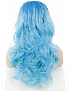 Hair ideas Wig Type: Synthetic Lace Front Wig Materials: Heat Resistance Silk Hair Length: 24 Inch H Pretty Hair Color, Hair Color Blue, Purple Hair, Baby Blue Hair, Bright Blue Hair, Blue Wig, Summer Hairstyles, Pretty Hairstyles, Box Braids Pictures