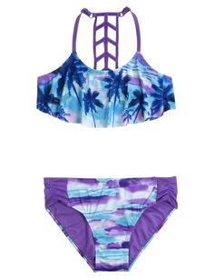 Scenic Flounce Bikini Swimsuit | Girls Swimsuits Swim | Shop Justice
