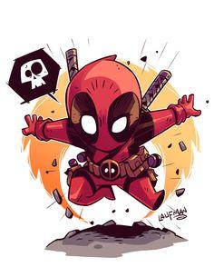 Chibi Deadpool! by DerekLaufman on @DeviantArt