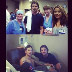 Christian Bale visiting the victims in Aurora, Colorado    Photo by piamiller • Instagram