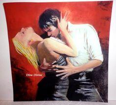 Pastel Sec pour Tableau Romantique * DIEGO et LOLA * - Création Originale : Accessoires de maison par diva-divine
