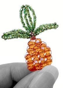 DIY Idea - Make a Miniature Swarovski Crystal Pineapple