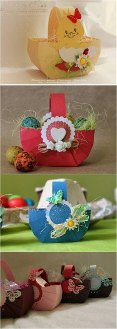 DIY Easy Cardboard Easter Basket #craft #Easter #decor