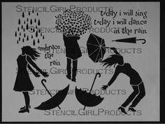 Rain Stencil L084