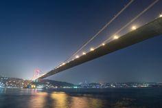 Istanbul Bosphorus At Night - A long exposure shot of Istanbul Bosphorus Bridge at night