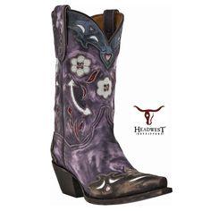Dan Post Vintage Purple Cowgirl Boots #LOVE