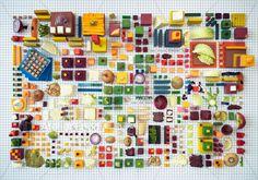 食べ物を使ったアートな街並み「Atelier Food »Still life«」