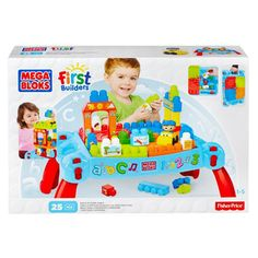 Mega Bloks First Builders Build n Learn Table available online at http://www.babycity.co.uk/