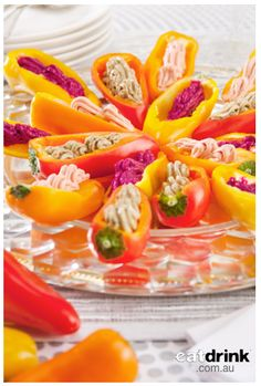 Recipe:  Eye Candy Vine Sweet Minicaps® Baby Capsicums Platter by Exec Chef Andrew Mirosch (Sirromet Wines)