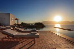 Discover Greece's Most Exclusive Private Villas and Secret Islands - Architectural Digest Outdoor Swimming Pool, Swimming Pools, Small Double Bedroom, Barbados Villas, Island Villa, My Dream Home, Dream Homes, Greek House, Luxury Villa Rentals