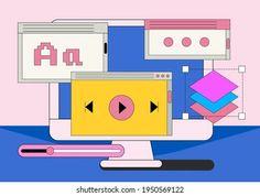 Retro Computer: vetores, imagens e arte vetorial stock | Shutterstock Ux Design, Shutter, Illustration, Family Guy, Retro, Fictional Characters, Vector Art, Vectors, Artists