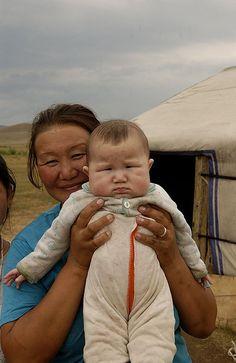 Mother & baby, Mongolia
