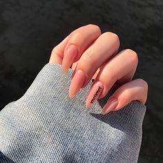 148 inspiring winter nail art and designs 171 Simple Acrylic Nails, Almond Acrylic Nails, Summer Acrylic Nails, Best Acrylic Nails, Summer Nails, Simple Nails, Acrylic Gel, Spring Nails, Aycrlic Nails
